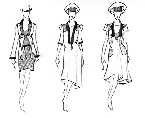 Designs For Drawing. A few quick fashion design